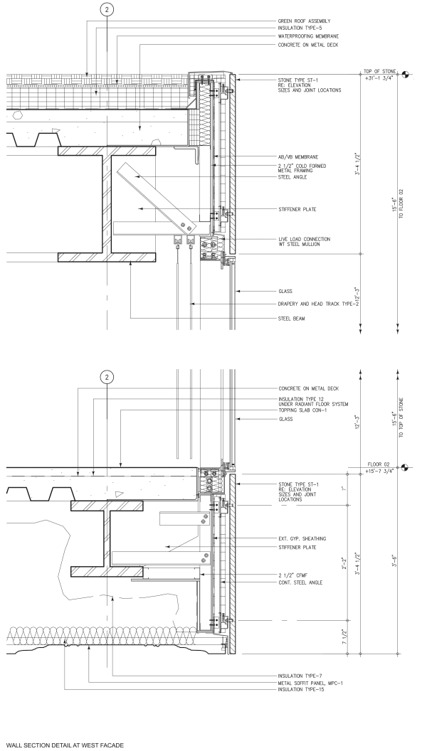 Oma Office Of Metropolitan Architecture Iwan Baan Milstein Hall Architectural Section Steel Architecture Construction Details Architecture