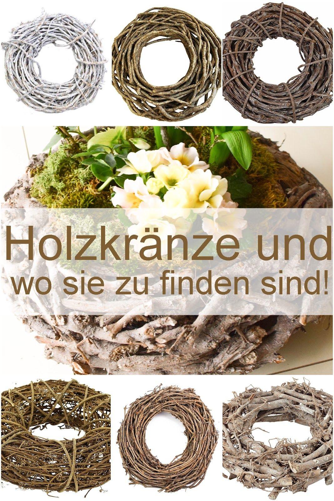 Die besten und sch nsten kr nze aus holz kreativit t pur ostern dekoideen und diy - Holzkranz dekorieren ...