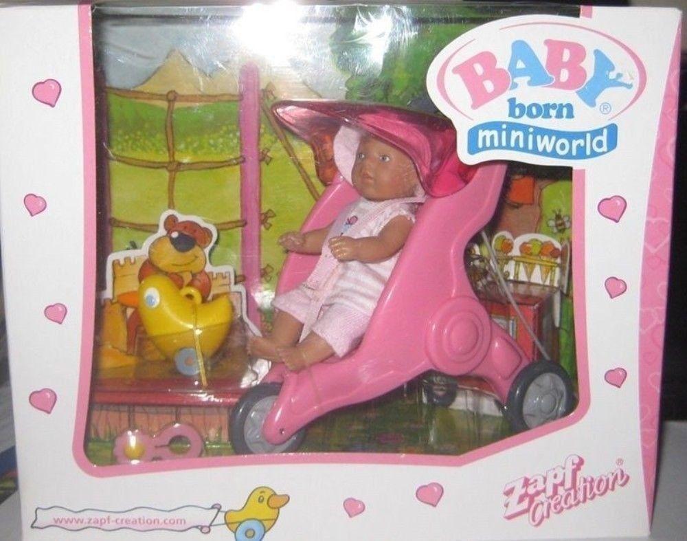 ZAPF BABY BORN MINIWORLD JOGGER/STROLLER SET ( PINK