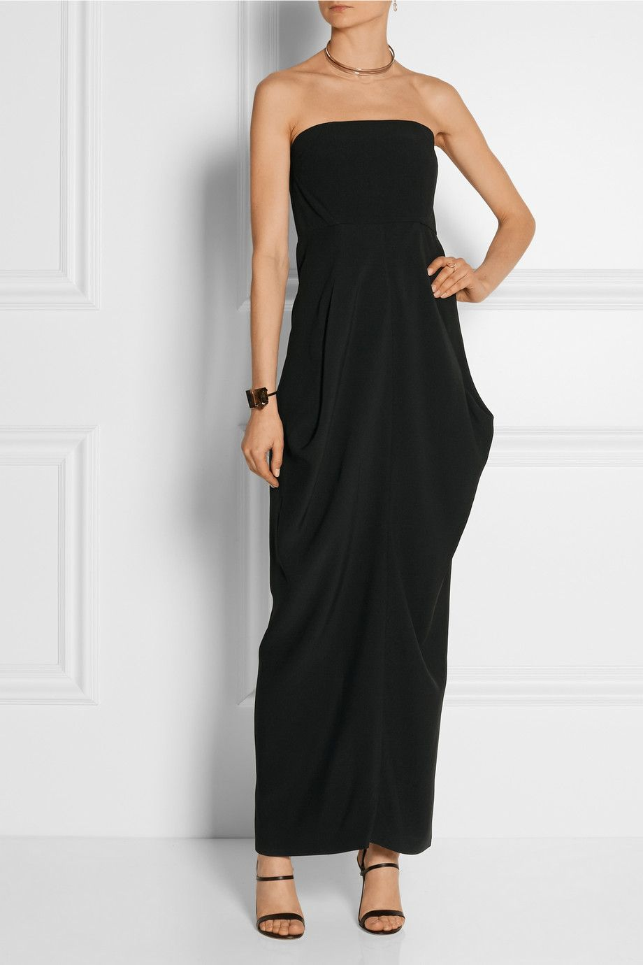 Zero+MariaCornejo|Long Anise crepe dress
