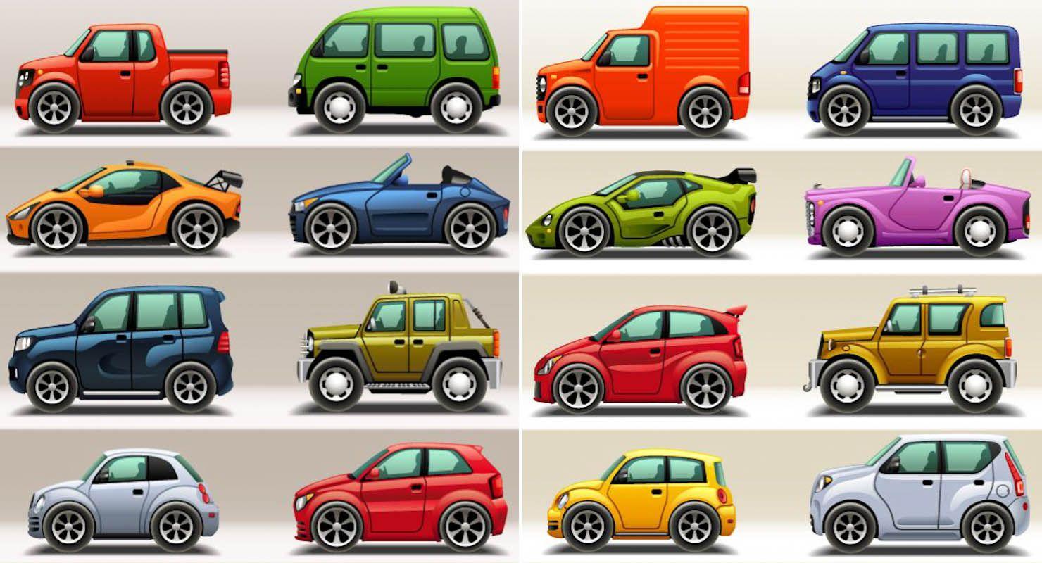 Cartoon Super Cars Vector Car Cartoon Car Vector Super Cars