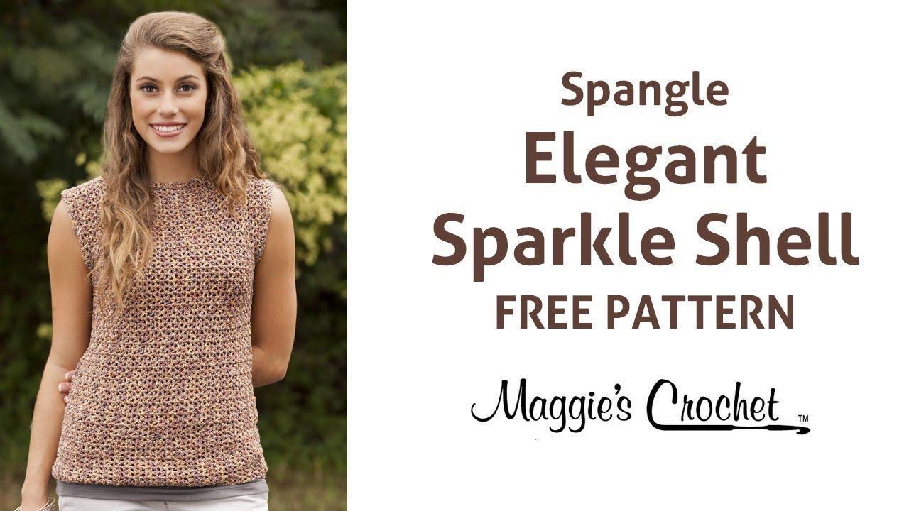 Elegant Sparkle Shell Free Crochet Pattern - Right Handed | Blusas y ...