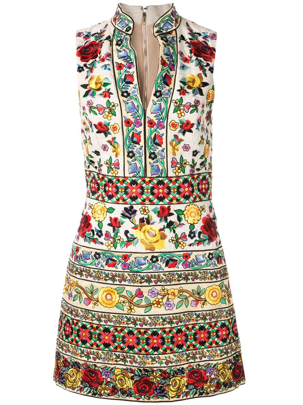 Alice+Olivia Kleid Mit Blumenstickerei - Farfetch  Embroidered