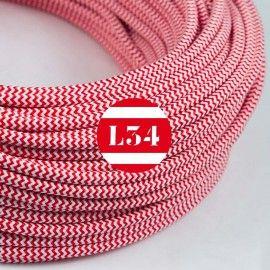 Câble électrique Textile Rouge Et Blanc Les Cordons Pinterest