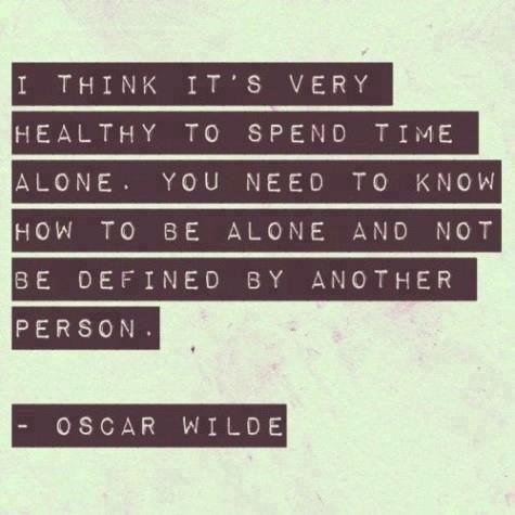 Aprender a estar con uno mismo