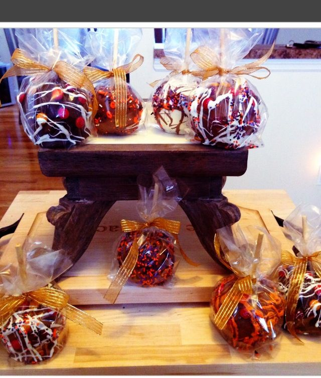 Chocolate apples for Halloween