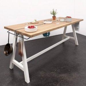 Kochen am Tisch - Gaskocher integriert!