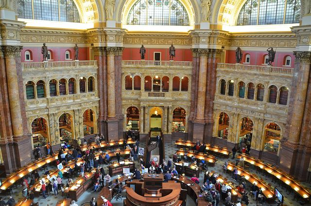 Main Reading Room Library Of Congress Washington D C Beautiful Library Library Of Congress Library Architecture