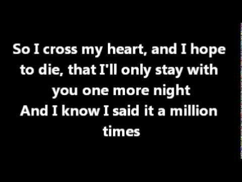 Maroon 5 One More Night Lyrics Official Nights Lyrics