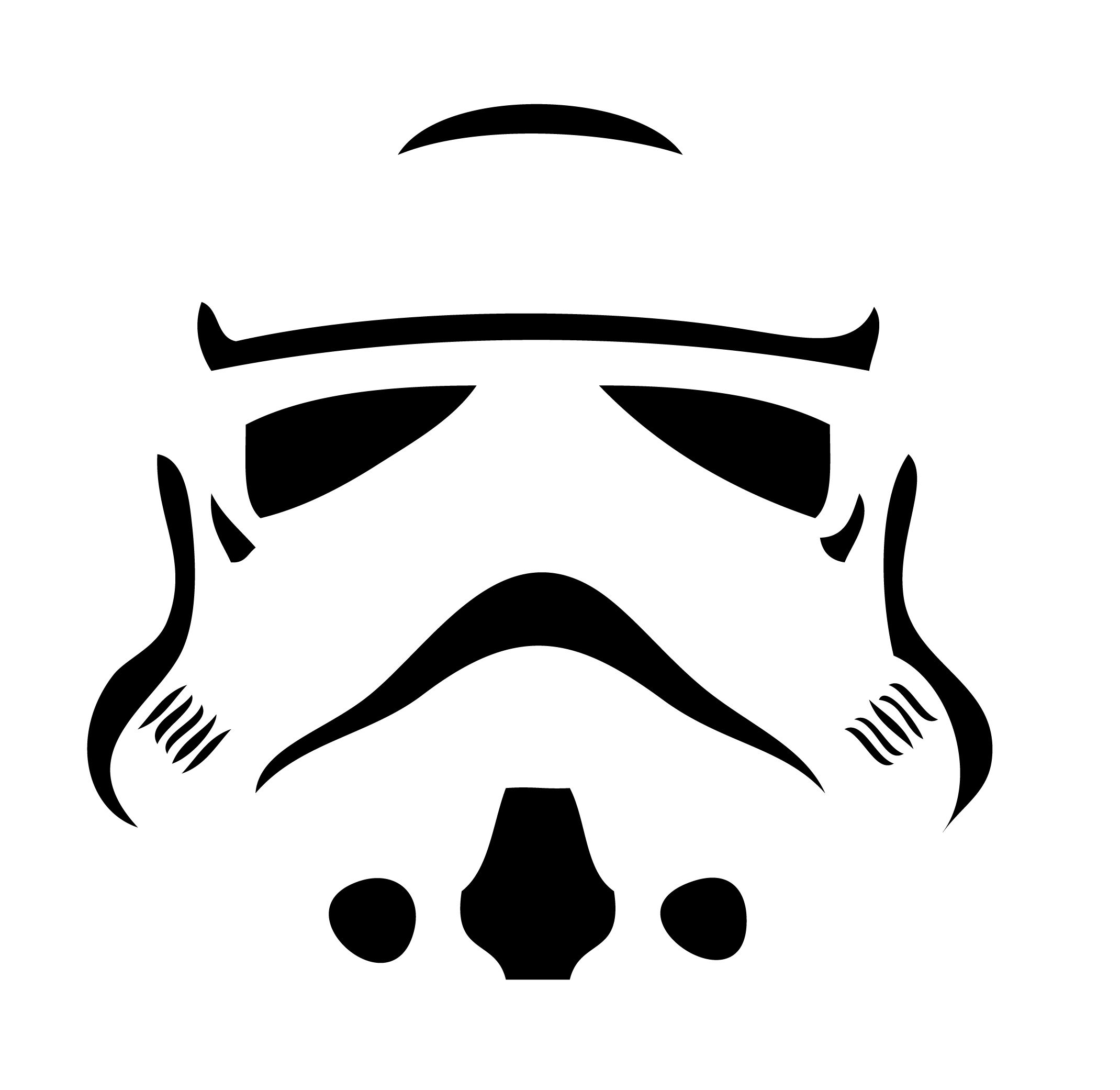 storm trooper stencil for gift bags