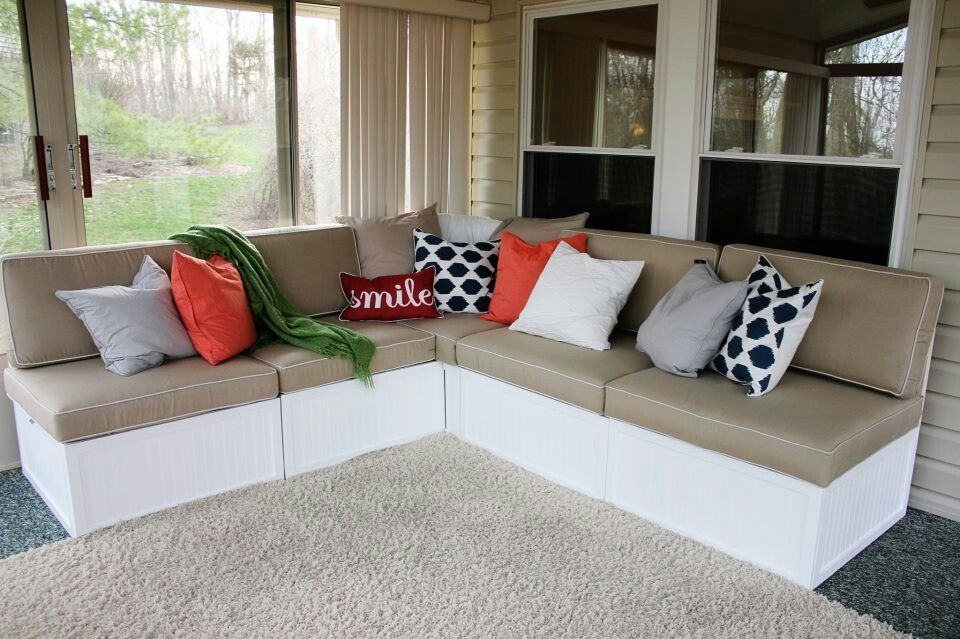 Diy outdoor sectional make our own buy the cushions in outdoor diy outdoor sectional make our own buy the cushions in outdoor colorful fabrics box bases could be storage solutioingenieria Images