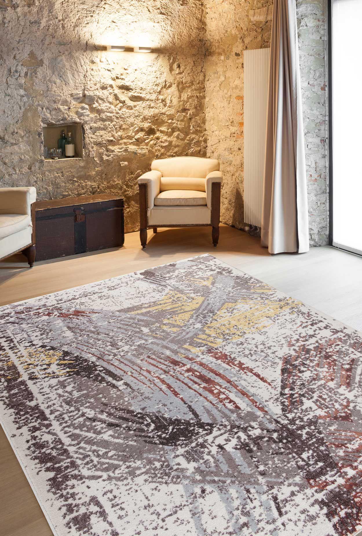 Moderne Teppiche für Wohnzimmer - Zara Kollektion - gelb, grau ...