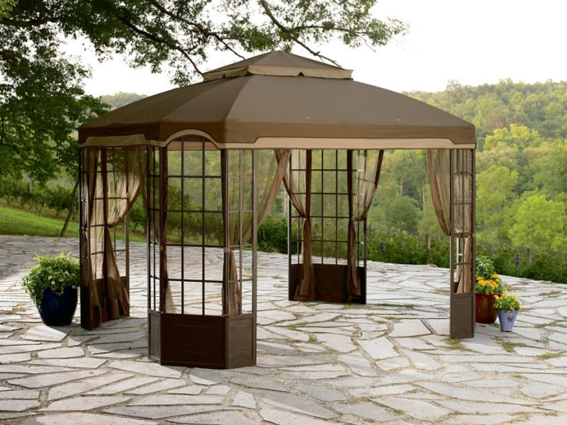 Garden Oasis bay widow Gazebo d71 m12216 | canopy for bay window gazebo sears replacement canopy & New Garden Oasis REPLACEMENT Canopy for Bay Window Gazebo D71 ...