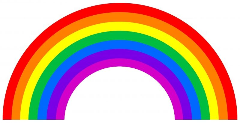 Gallery For The Colors Of The Rainbow In Order Rainbow Clipart