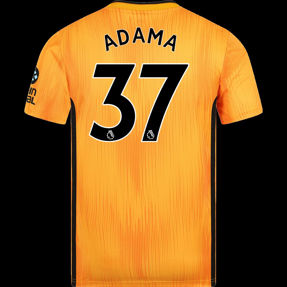 Adidas Adama Traore Wolverhampton Wanderers Home Jersey 19 20 2xl Wolverhampton Wanderers Wolverhampton Jersey