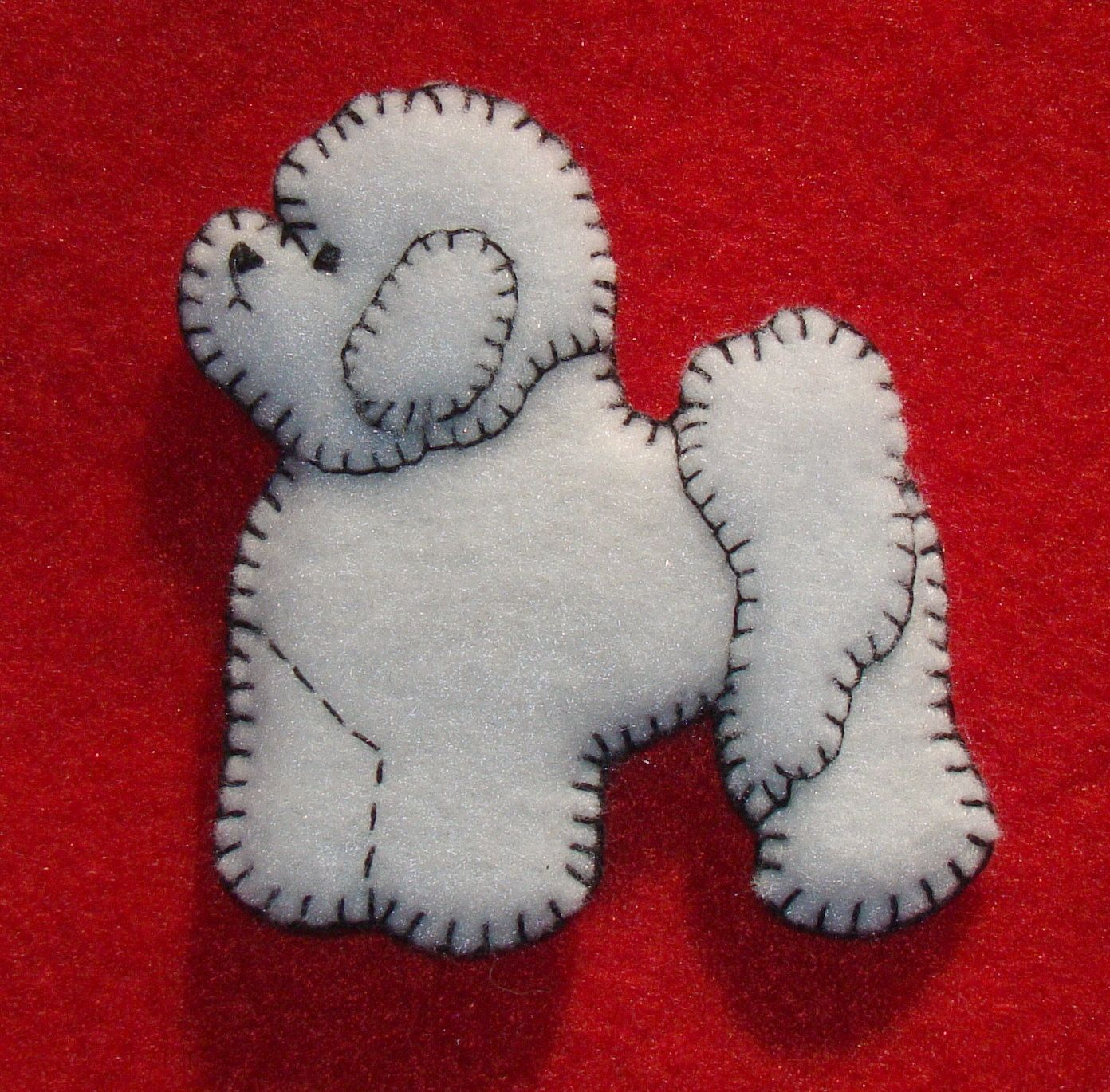 Handmade christmas ornaments on etsy - Bichon Frise Refrigerator Magnet Christmas Ornament Handmade Original Felt Design 15 00 Via