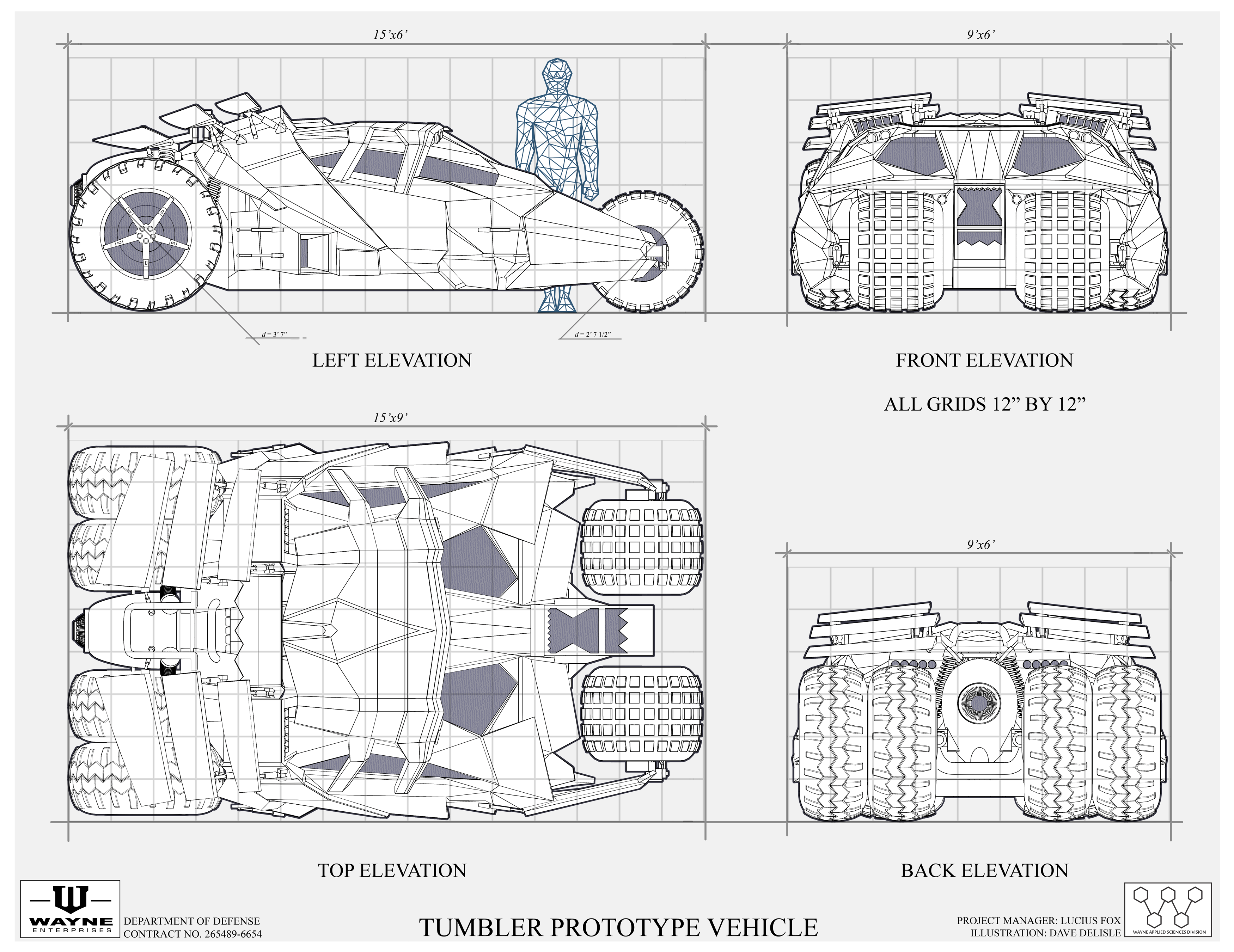 tumbler batmobile blueprint geek stuff pinterest batmobile bat man