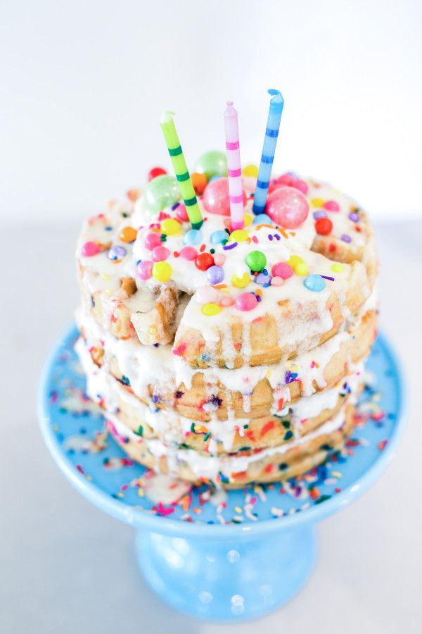 Simple Birthday Breakfast Idea Or Just Because Waffle CAKE Made With Zevia
