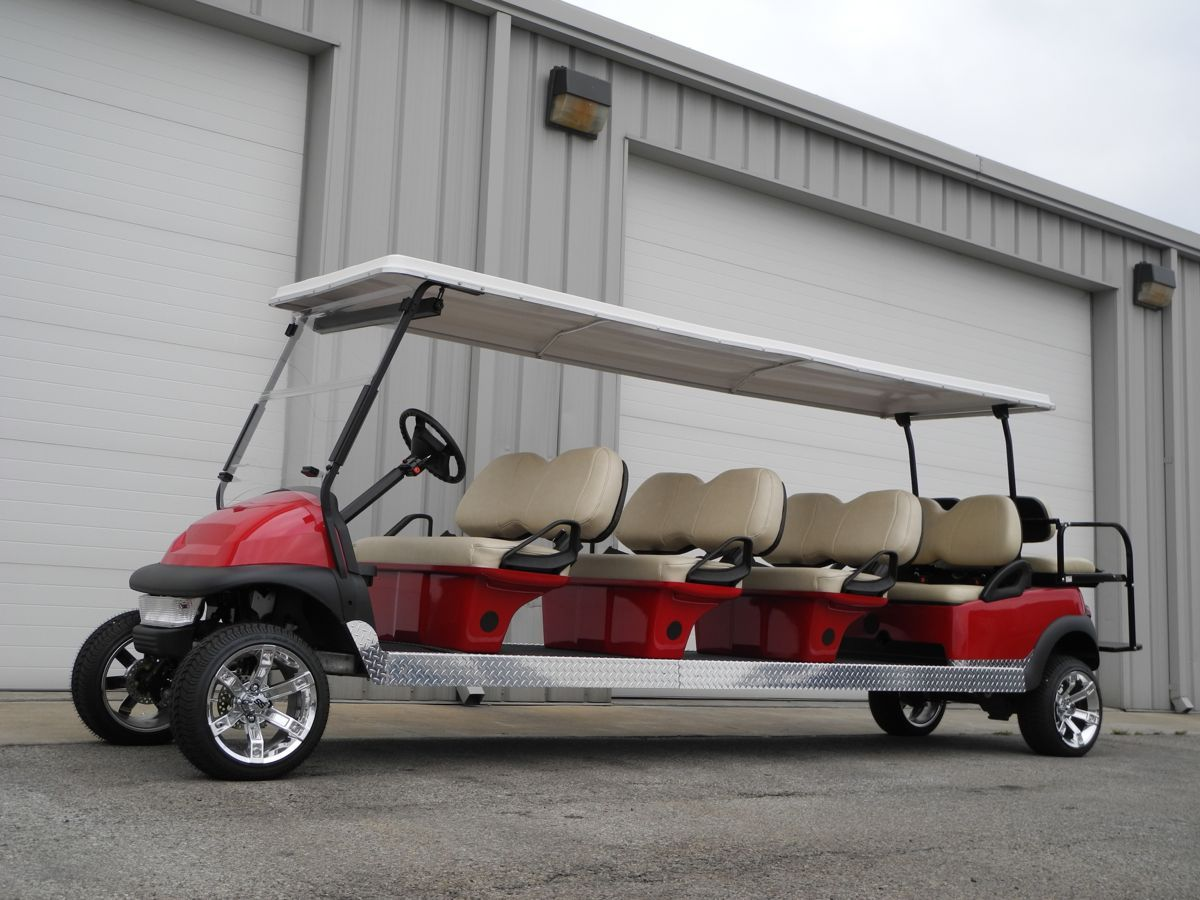 The big daddy of all stretch limo golf cars! This 48v electric ...