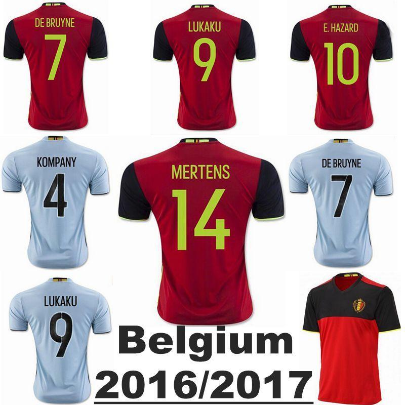 the best attitude 12f1c 2e133 Belgium jersey 2016 Belgium Soccer jersey away EDEN HAZARD ...