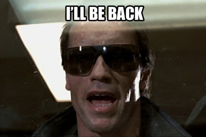 I Ll Be Back Baby Movie Quotes Funny Arnold Schwarzenegger Arnold Schwarzenegger Quotes