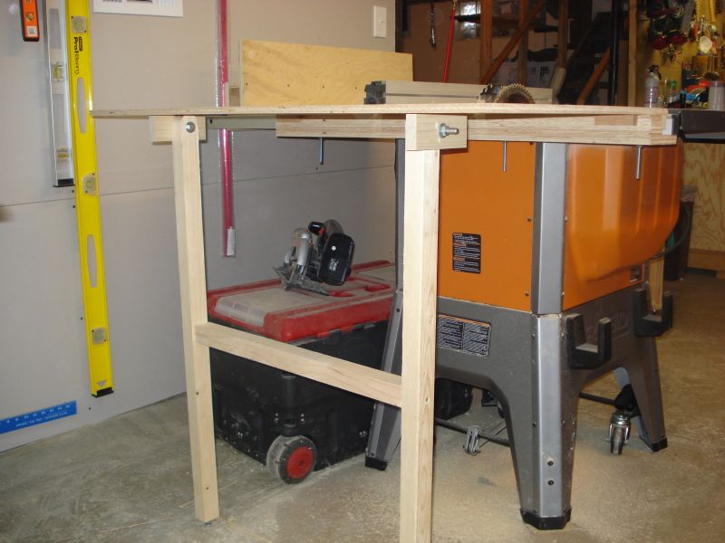 My Ridgid R4512 Table Saw Outfeed Woodworking Talk