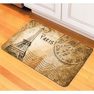 Vintage Paris Cushioned Floor Mat Paris Kitchen Paris Home Decor Paris Kitchen Theme
