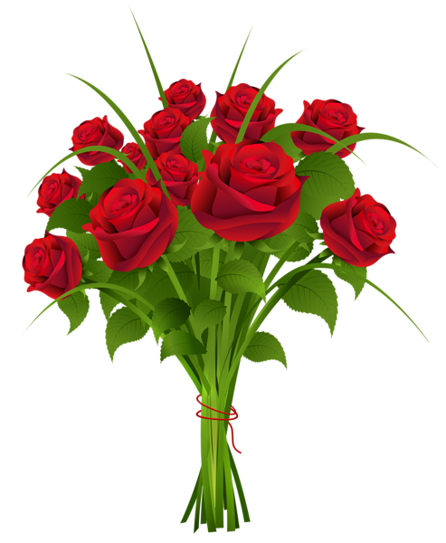 Transparent Rose Bouqet Red Clipart PNG Image Flower