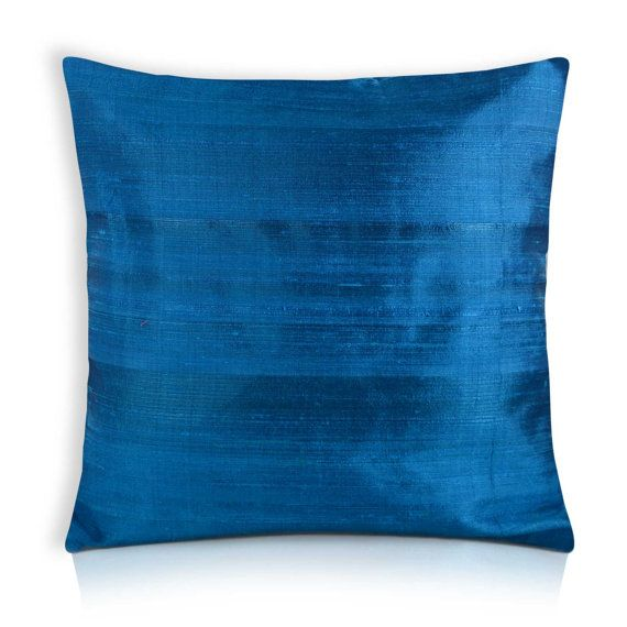 Turquoise Raw Silk Pillow Cover Dupioni Silk Cushion Cover Gorgeous Raw Silk Pillow Covers