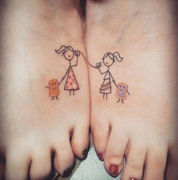 cute-sister-tattoos.jpg 595×600 pixels