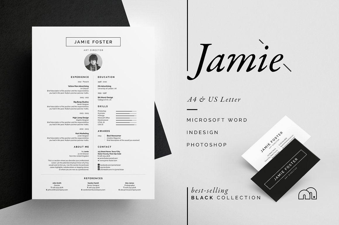 Resume/CV - Jamie - Resume template - Professional Resume/CV ...