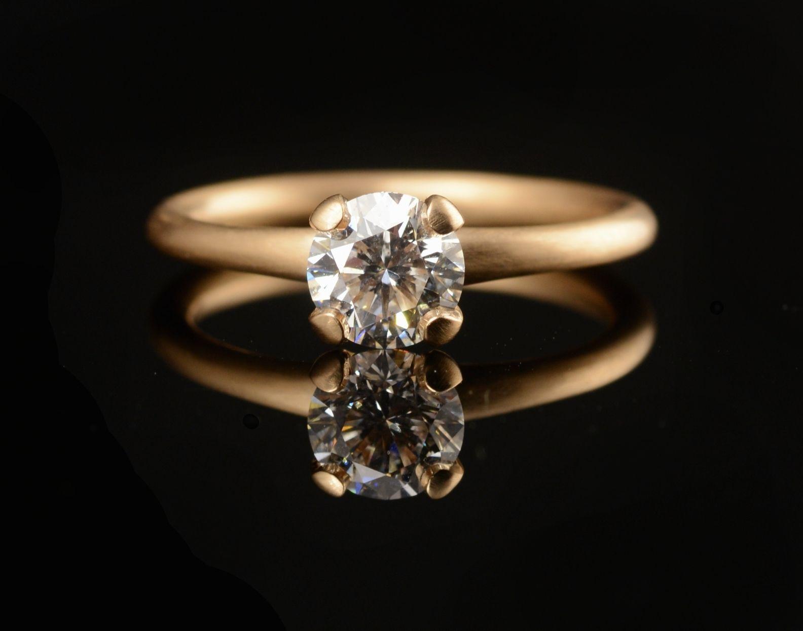 Rose Gold Cognac Diamond Engagement Rings