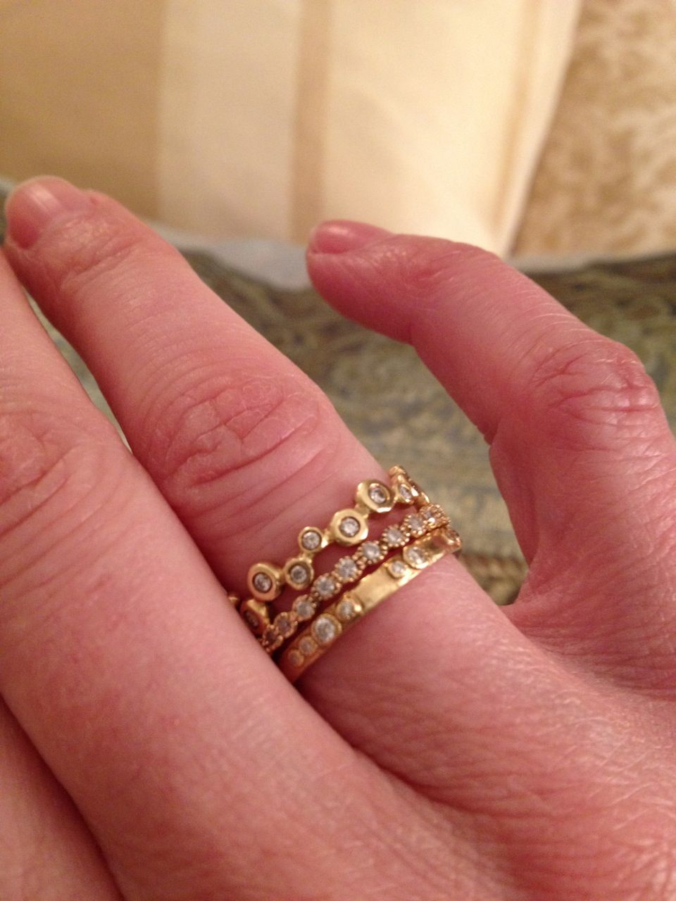 Stacked rings | Anniversary | Pinterest | Ring, Jewel and Diamond