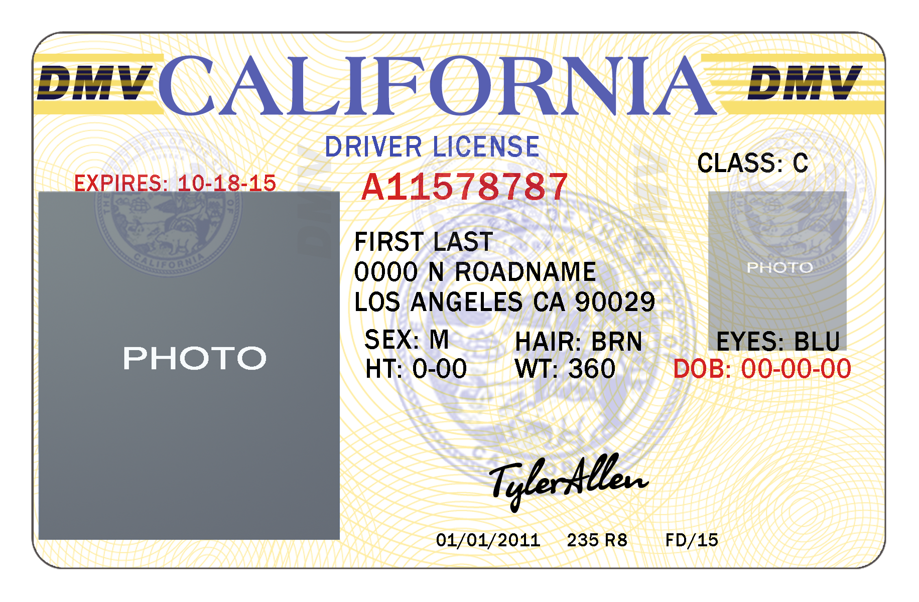 California Drivers License Template | California | Pinterest