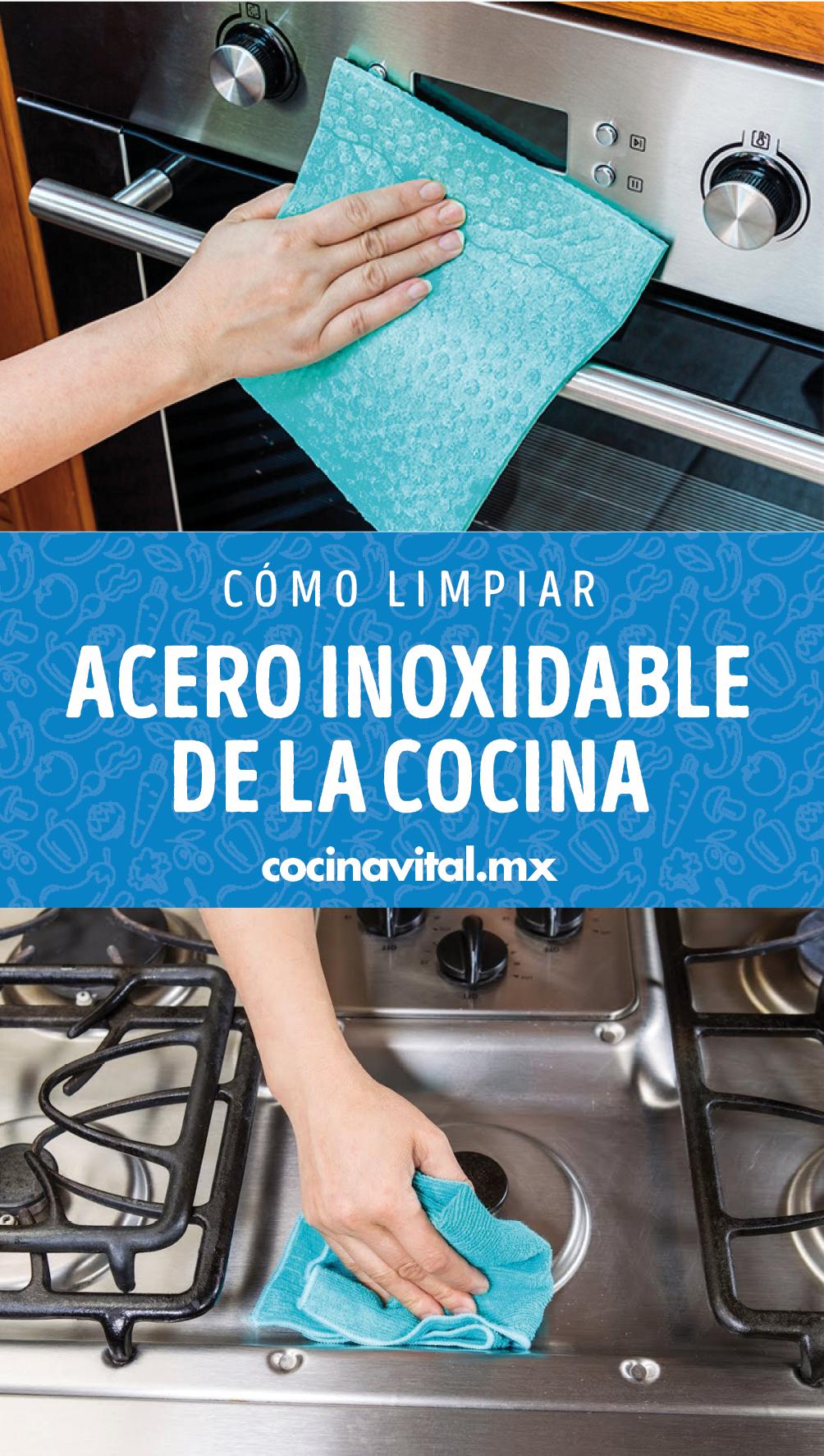 Cómo limpiar el acero inoxidable de la cocina