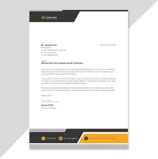 تحميل تصميم ورق رسمي جاهز In 2021 Letterhead Design Company Letterhead Cute Wallpaper Backgrounds
