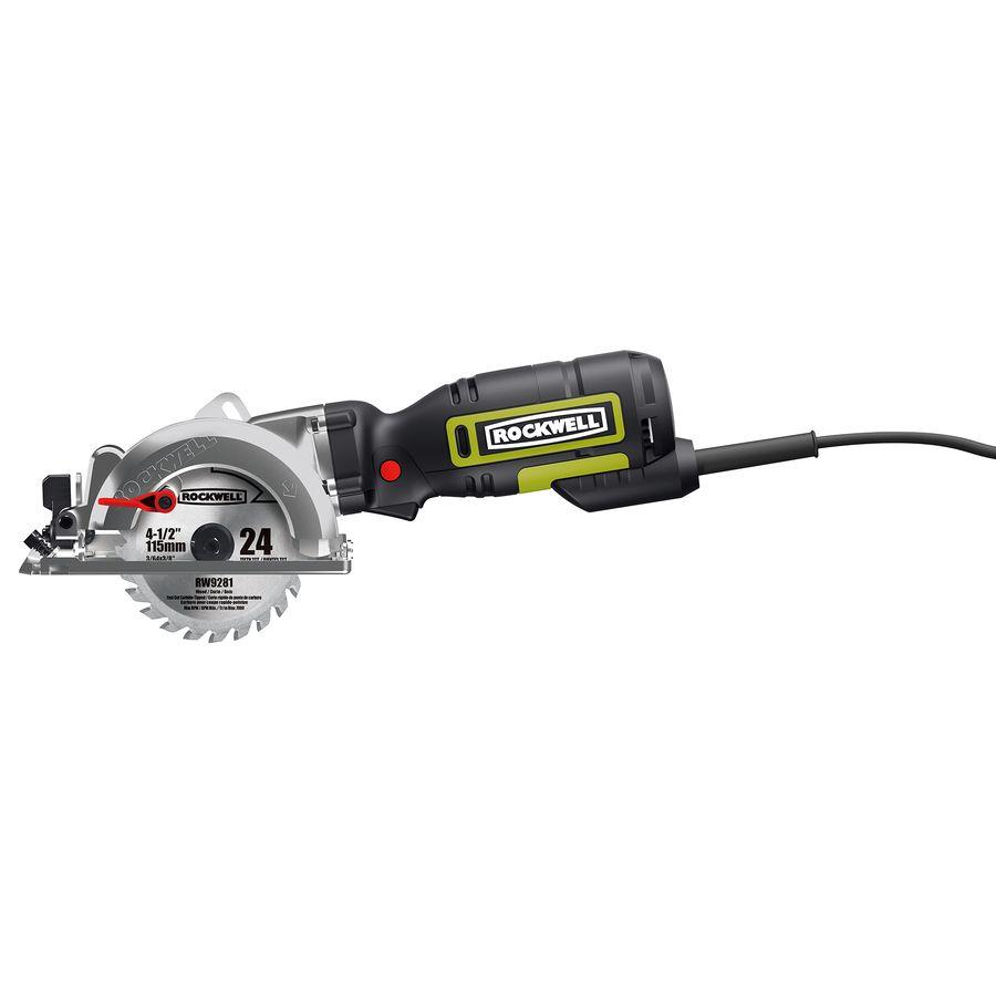 Rockwell 5 Amp 4 1 2 In Corded Circular Saw Compact Circular Saw