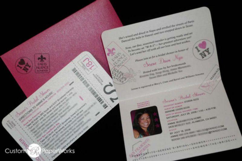 passport invitation paris themed passport invitations for birthday party bridal shower
