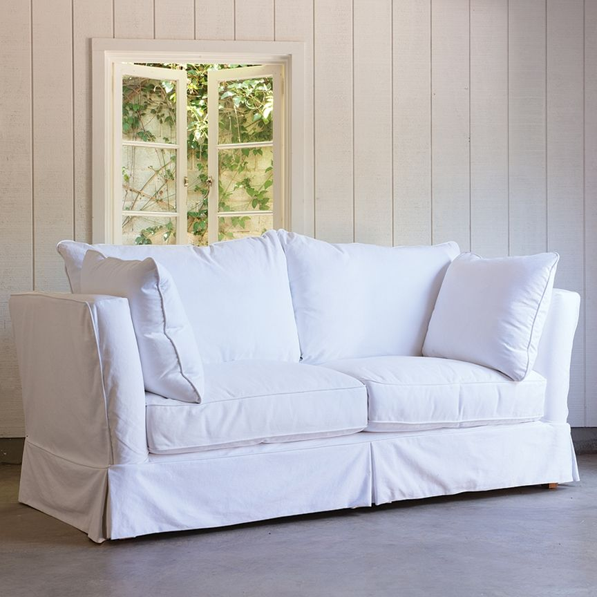 High Arm Simple Sofa ~ Rachel Ashwell Collection ~ Shabby Chic Style U0026  Inspiration ♥ #shabbychic