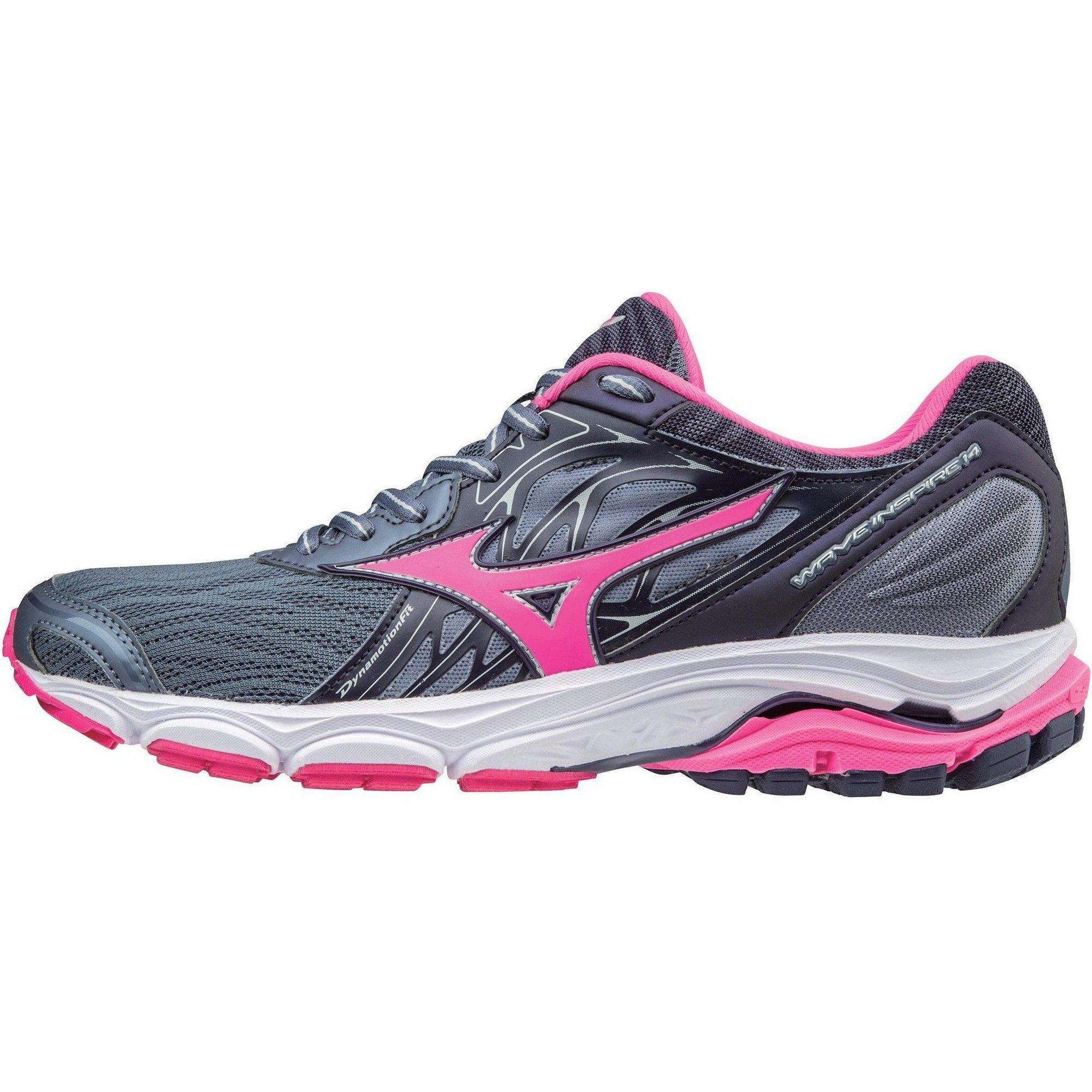 Mizuno Women S Wave Inspire 14 Running Shoe Size 7 5 In Color Folkstone Gray Pink Glo 9f1q Womens Running Shoes Running Shoes Running Women