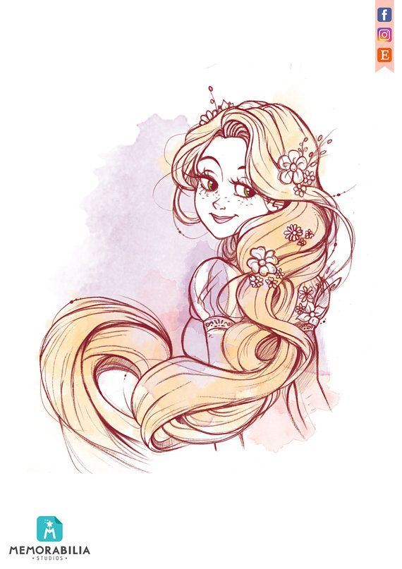 Rapunzel dancing in the famous scene of the movie! The illustration is printed on Fine Art Hahnemühle Photo Rag paper ( 308 g/m², made of 100% cotton), with a careful reproduction of details and a long lasting color brilliance.  Each print is shipped in a jiffy bag, protected by a protective film with a stiff backing board.  The print measures about 21 x 24 cm ( 10x 8) and is signed by us! :D