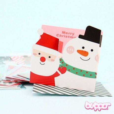 Cute Christmas Card Set - 16 pcs Christmas cards, Cute christmas