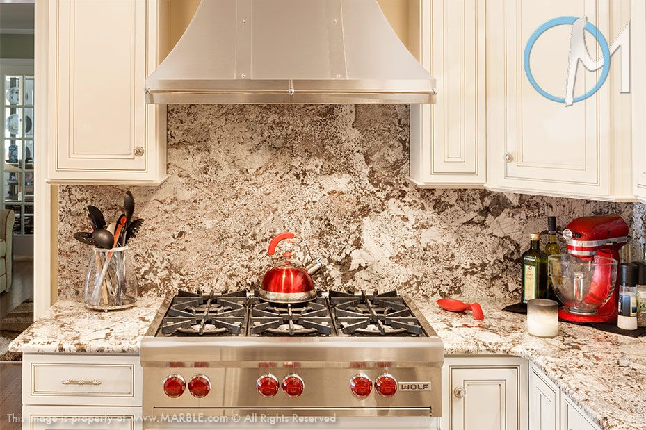 A Full Backsplash Also From The Bianco Antico Stone Gives This Fascinating Backsplash For Bianco Antico Granite Decor