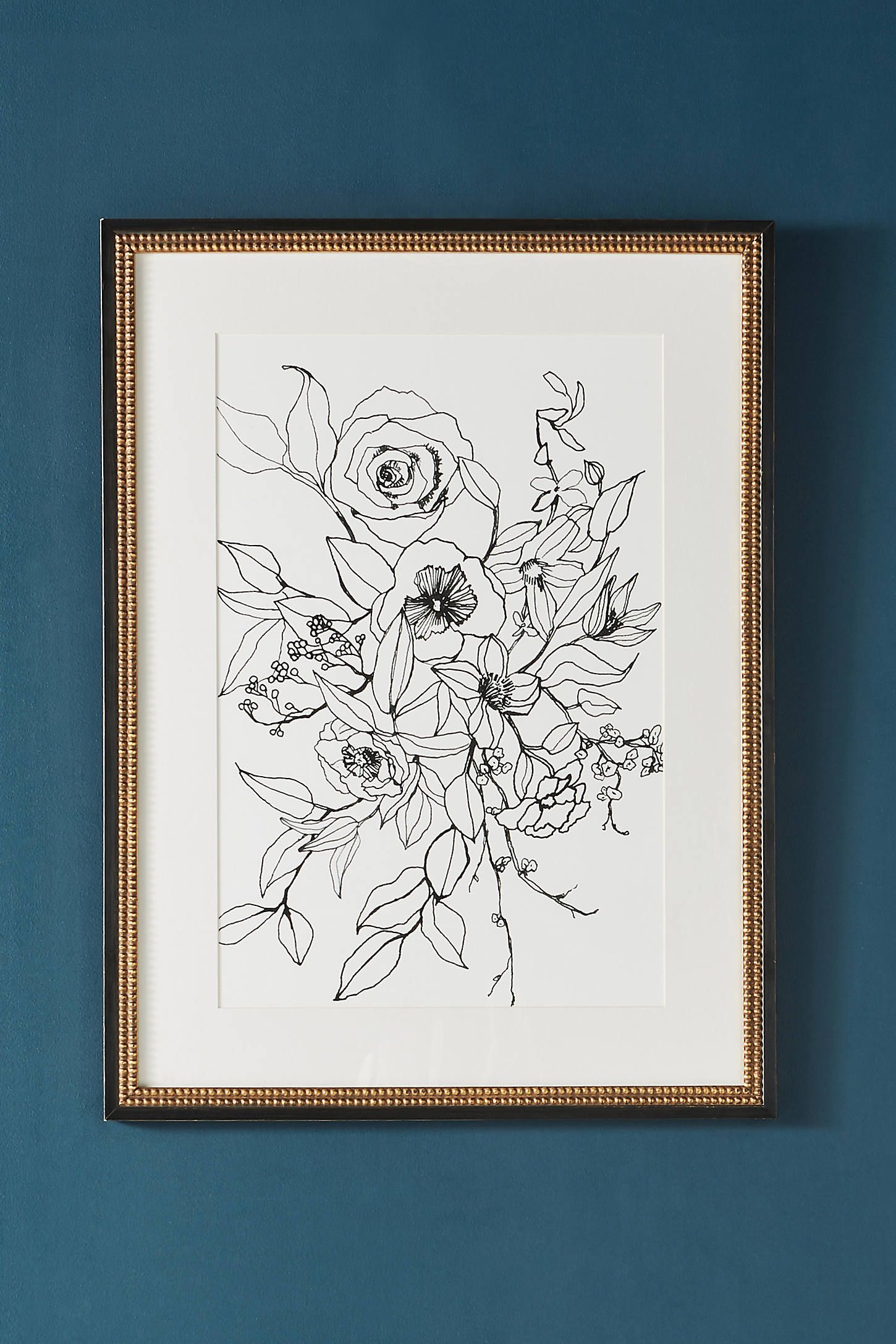 Ink Floral Wall Art