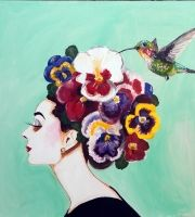 Audrey With Pansy Hat
