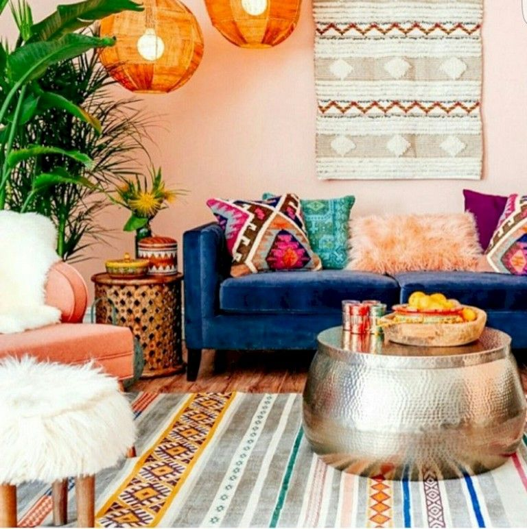 46 Cozy Relaxing Moroccan Living Room Decoration Ideas Bohemian