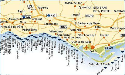 Algarve Beach Portugal Map Portugal Holidays Portugal Beach