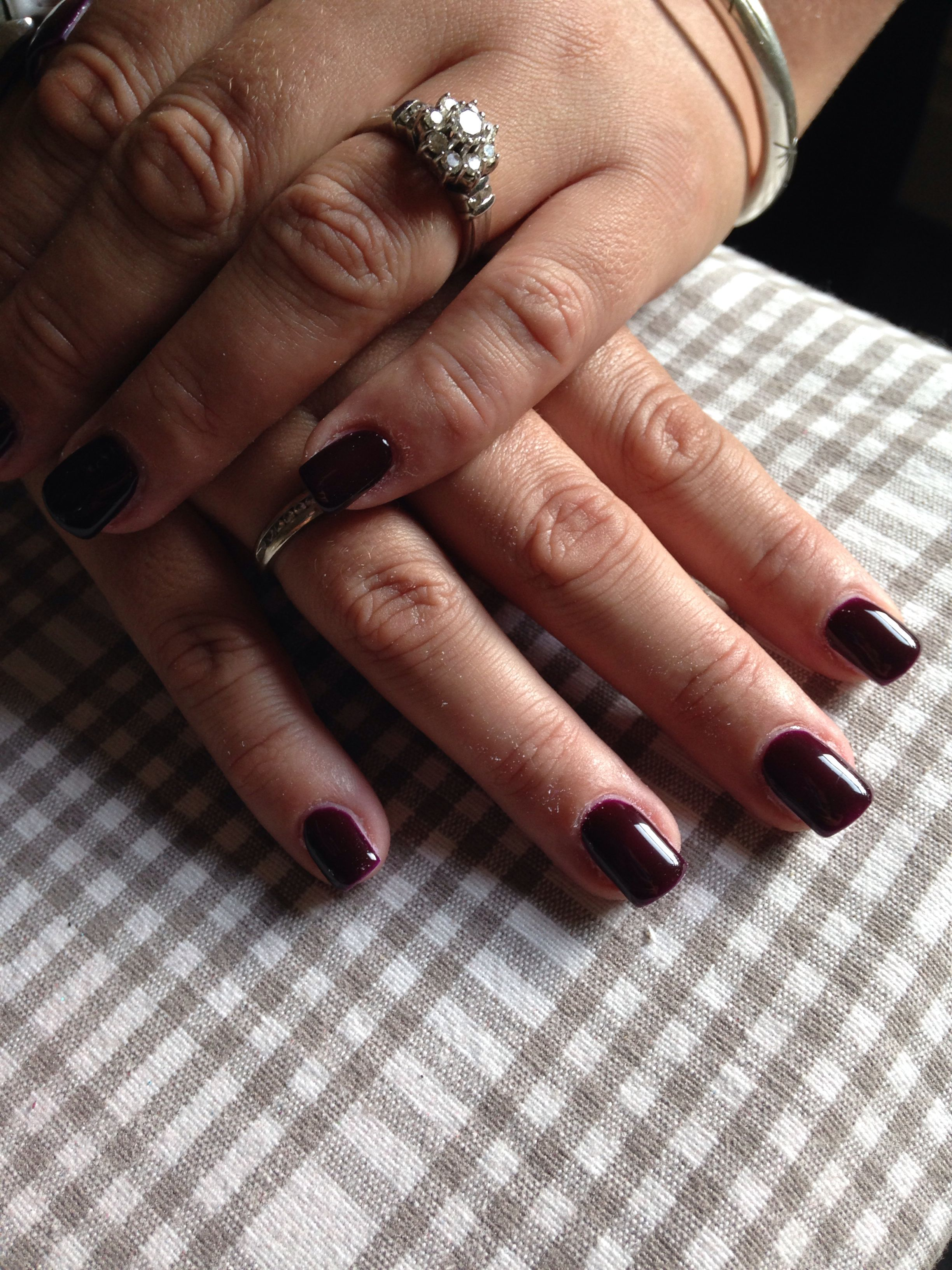 Dark red/purple gel nails. Great for summer or winter | My nails ...