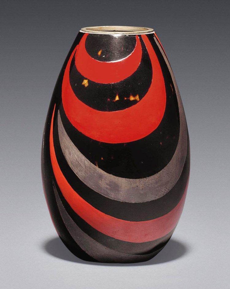 Jean Dunand 1877 1942 A Vase Circa 1926 1920s All Other Categories Of Objects Christie S In 2020 With Images Art Deco Vases Pottery Painting Porcelain Art