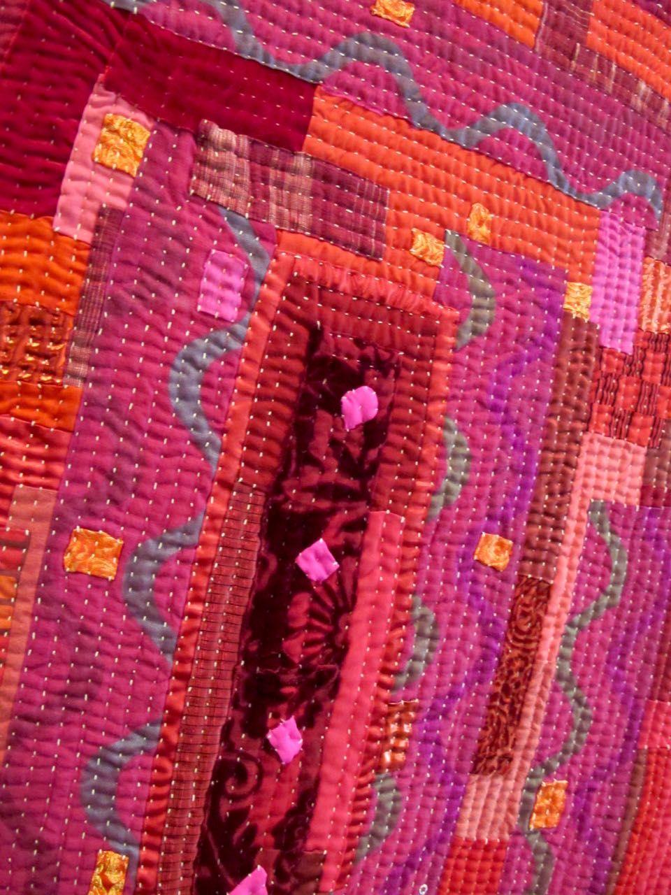 Kawanzi/kantha quilt. Extraordinary